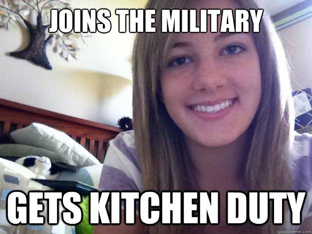 Kvinner i Forsvaret - kjøkkenet passer bedre