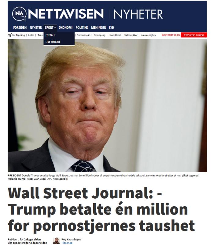 Nettavisen løgner om Trump