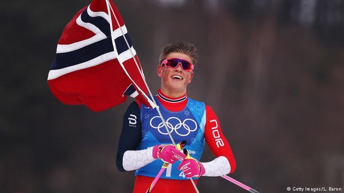 Johannes Høsflot Klæbo Ol Gull langrenn sprint Norge
