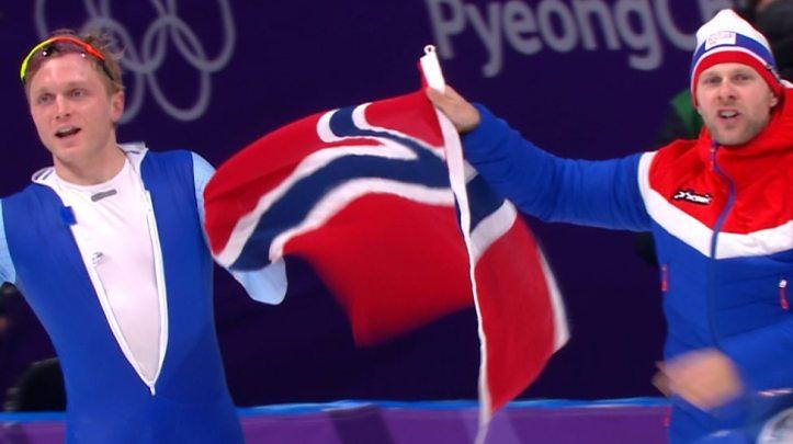 Norge - Håvard Bøkko Ol skøyter lagtempo gull