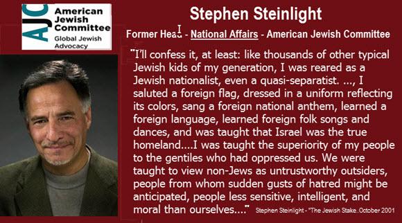 steven-steinlight-sitat om jødisk lojalitet til Israel