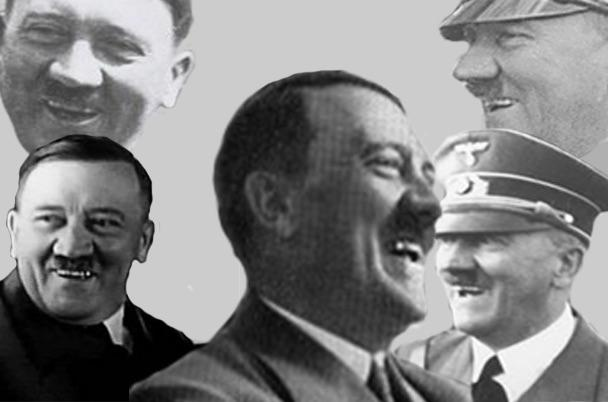 Hitler laughing multiple shots