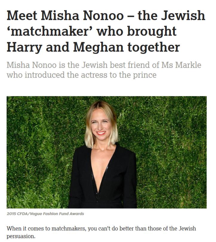 Jødisk matchmaker Misha Nonoo - Harry og Meghan