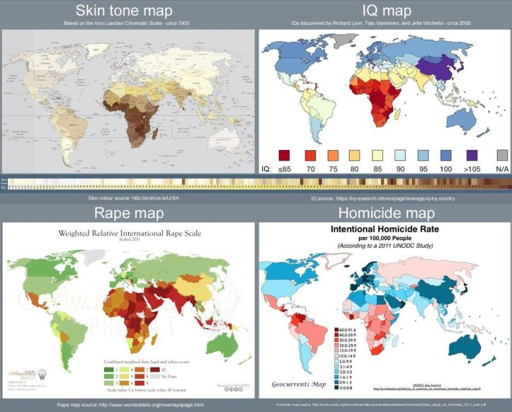 Race is real - world map