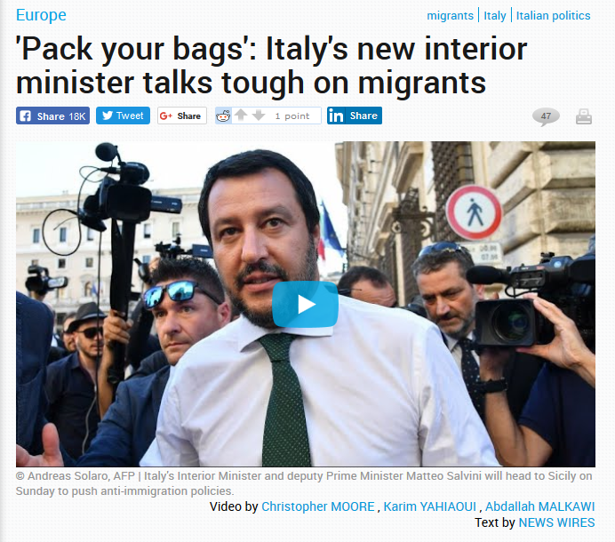 Salvini - pack your bags