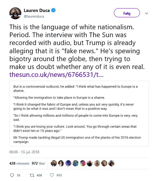 Lauren Duca - white nationalism Trump