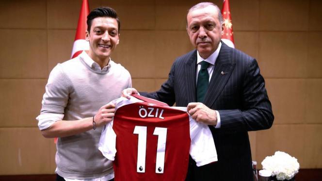 Mesut Özil og Recep Tayyip Erdogan