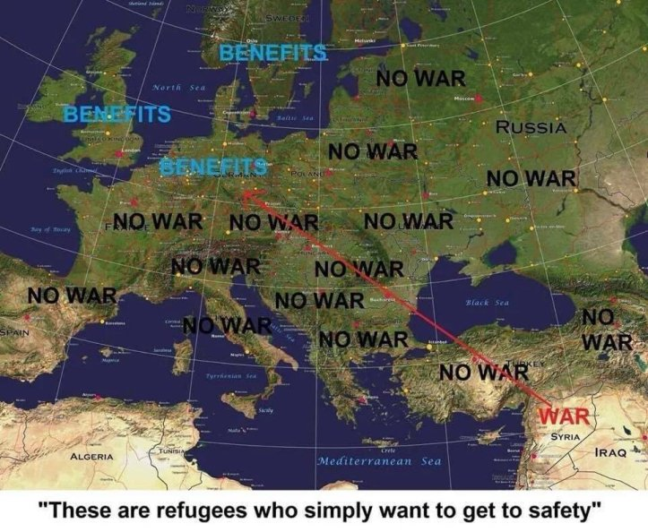Refugees only want safety