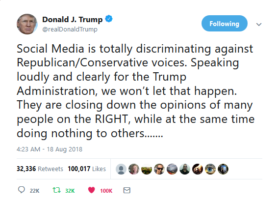 Donald Trump social media censorship