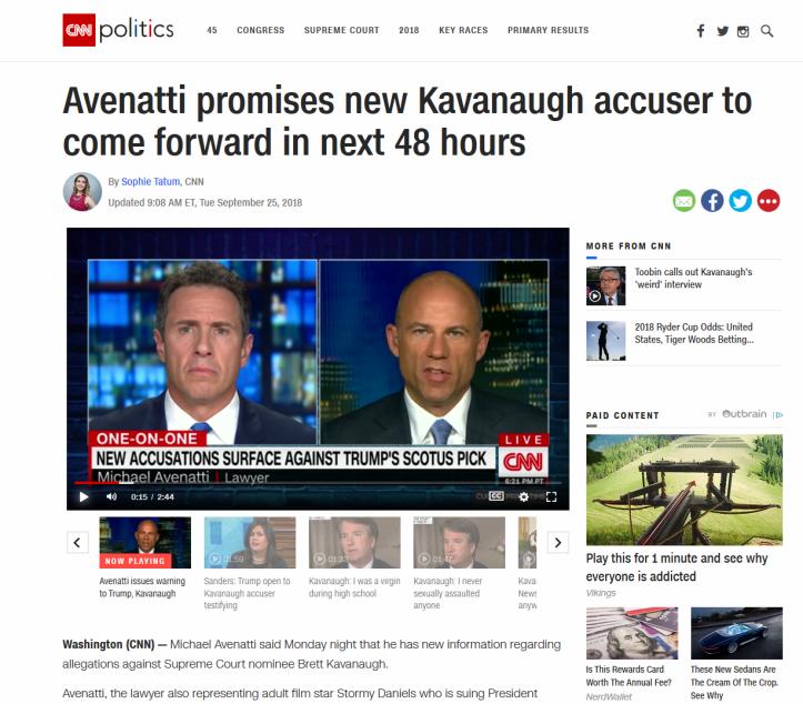 CNN Avenatti Kavanaugh