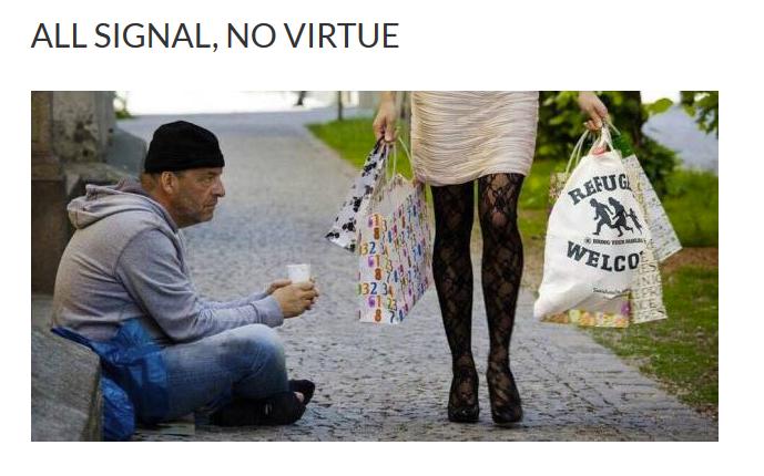 All signal, no virtue
