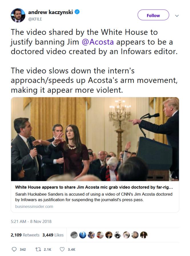 Acosta white house Trump