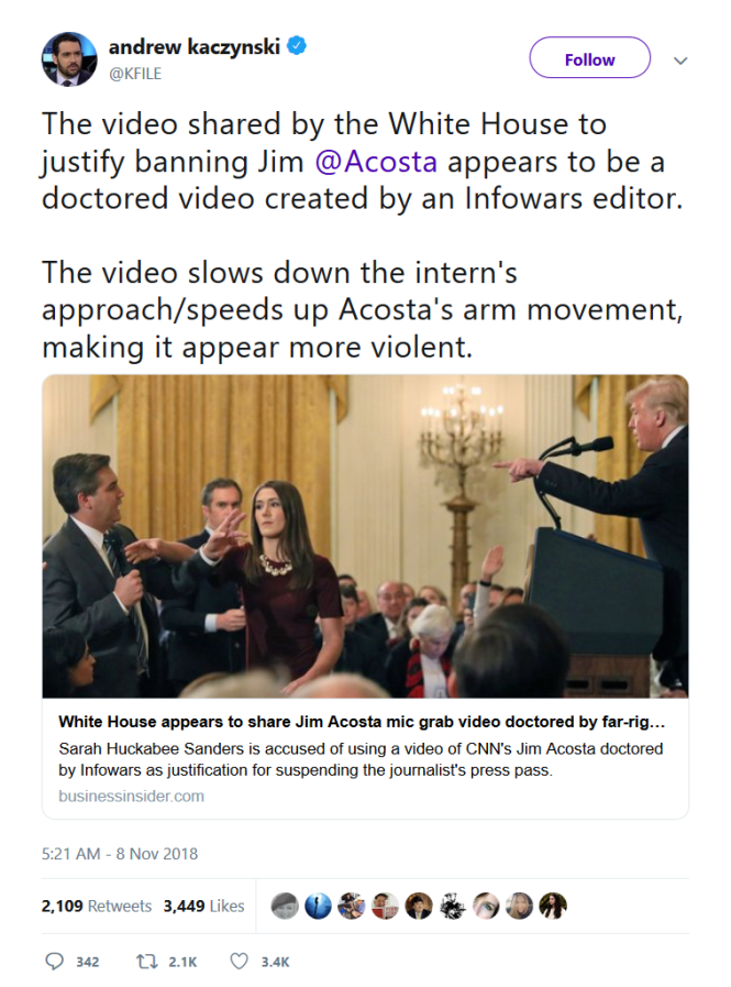 Acosta white house Trump