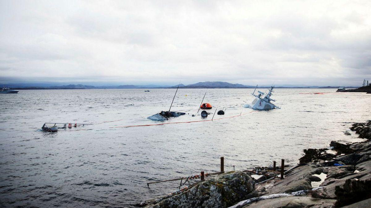 Amerikansk offiser på broen da Helge Ingstad kolliderte