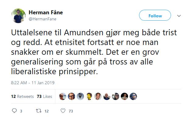 herman fÅne twitter amundsen