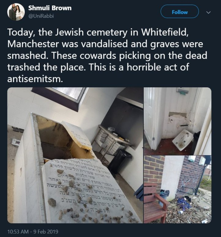 antisemitic attack Manchester