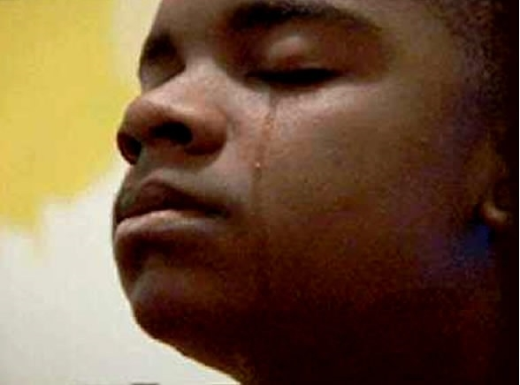 crying black guy