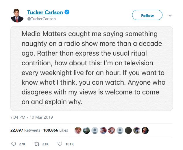 Tucker Carlson statement