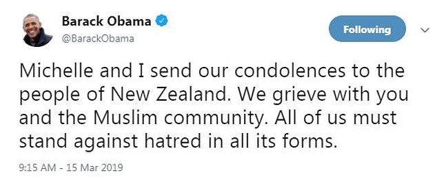 obama christchurch tweet