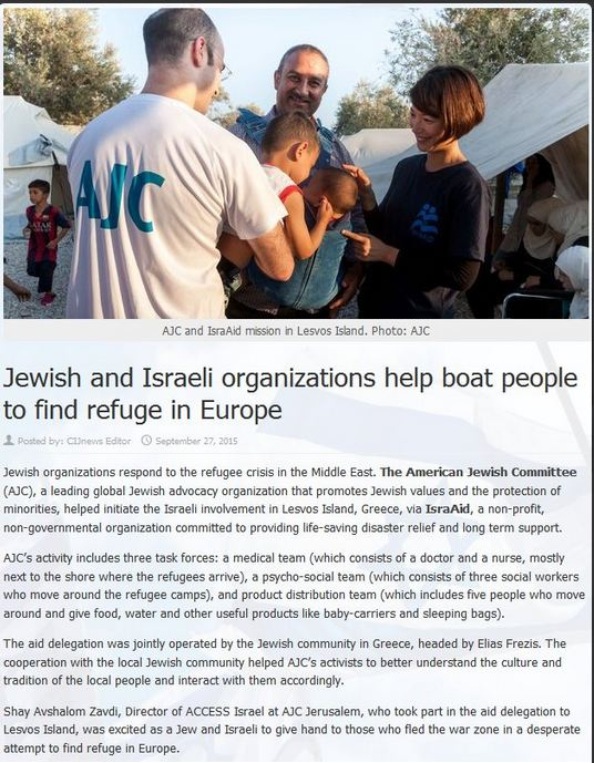 Jewish orgs help refugees IN EUROPE