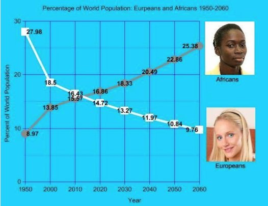 Population - Europeans and africans