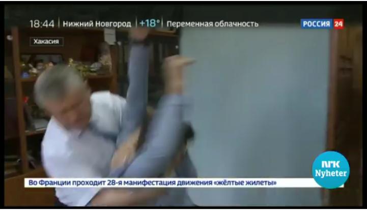 Russisk journalist slått