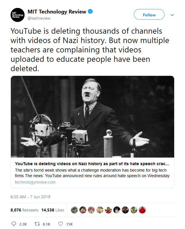 Youtube - History WWII deleted