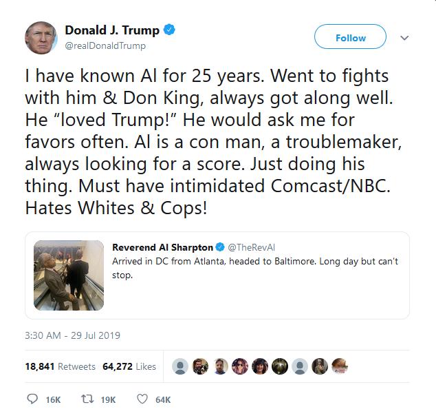 Trump - Al Sharpton