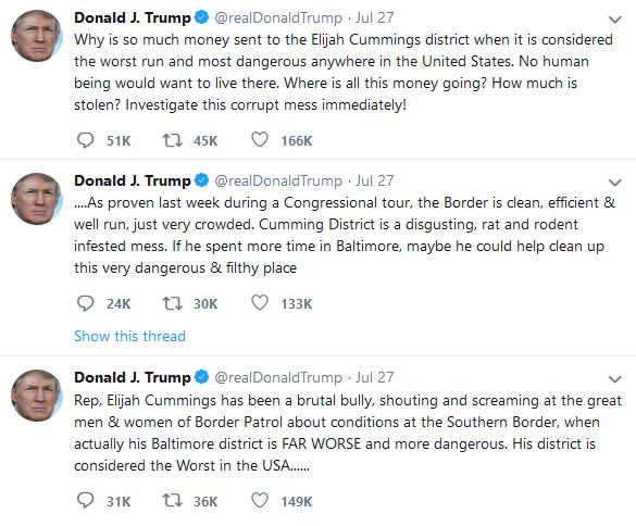 Trump - Elijah Cummings Baltimore