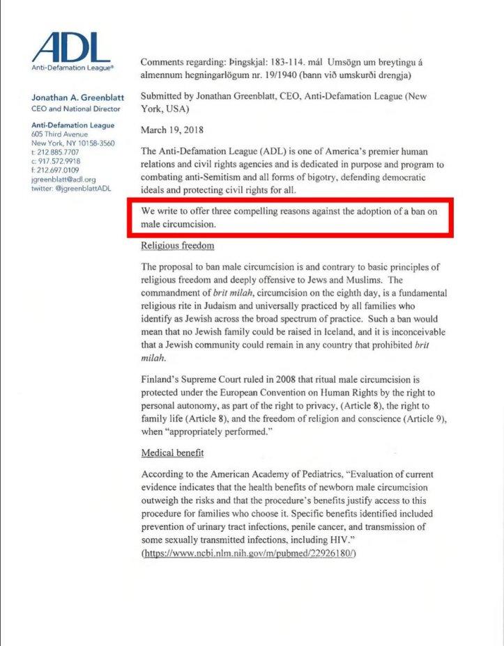 adl iceland threat male circumcision