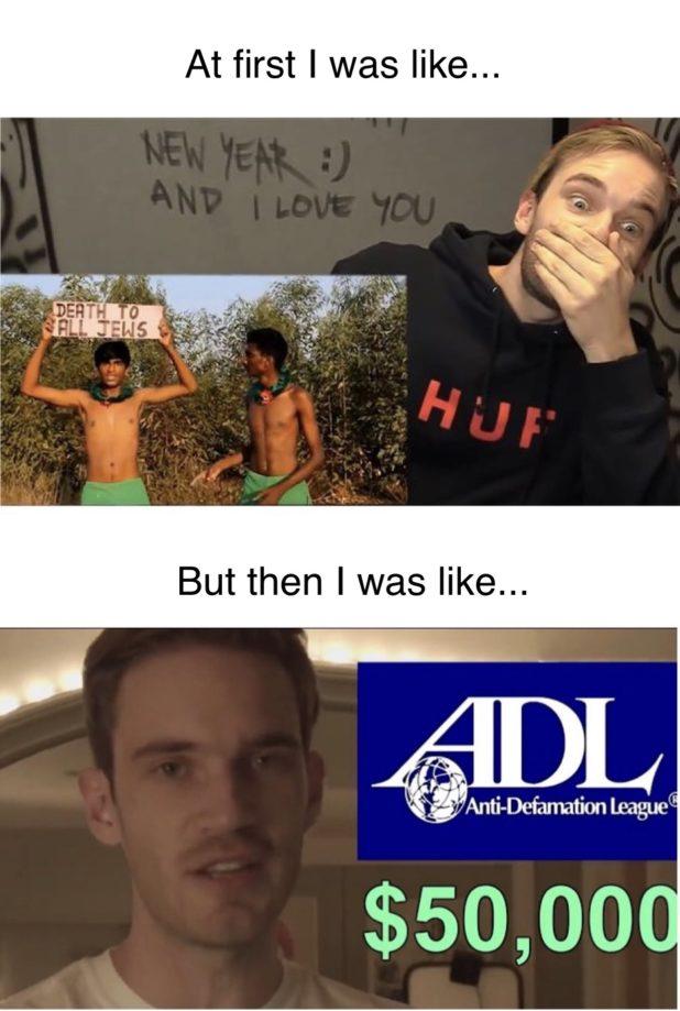 Pewdiepie ADL
