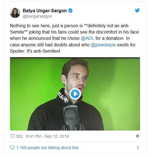pewdipie antisemittisme twitter