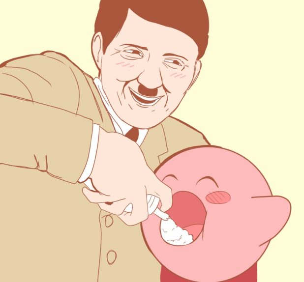 Hitler and pig