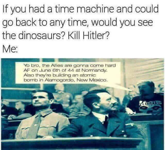 Hitler time machine Normandy