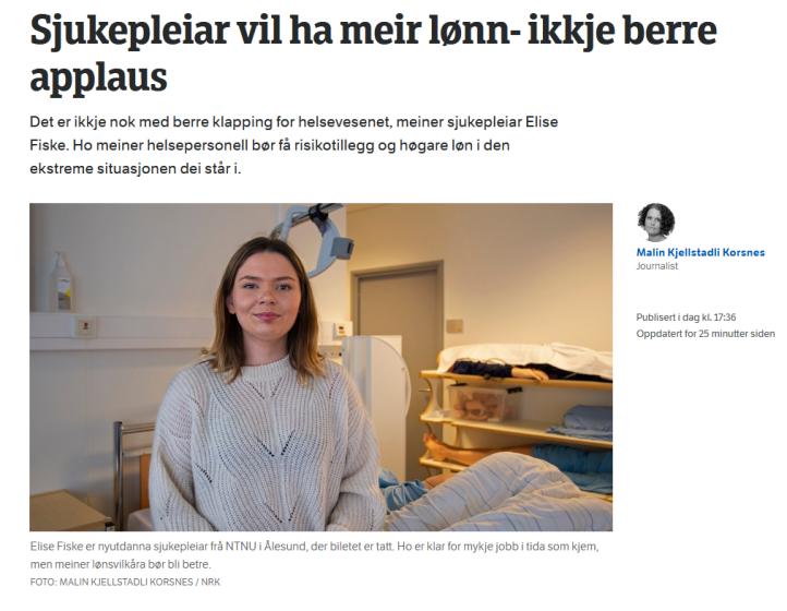 Sykepleiere sutrer om høyere lønn under koronakrisen