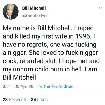 Bill Mitchell - wife nigger
