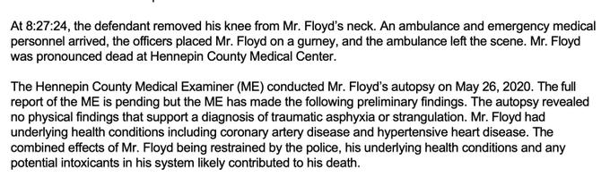 George Floyd - no sign of strangulation